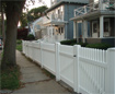 Vinyl Fence Chestnut Hill style - West Roxbury, MA
